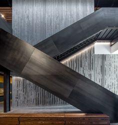 Image result for concrete reception desk dezeen