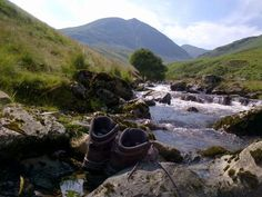 K Shoes Lake District ... posting pictures of shoes in precarious places, in the Lake District