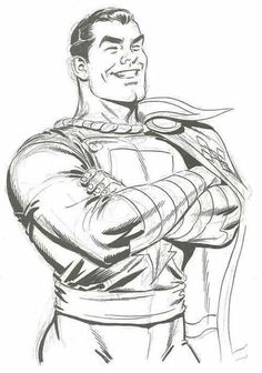 Captain Marvel by Jerry Ordway #JerryOrdway  #CaptainMarvel #Shazam #BillyBatson #JSA #FawcettCity #JusticeSociety #JusticeLeague #JL