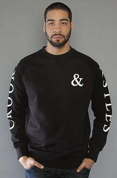 Crooks and Castles The Shadows Crewneck Sweatshirt in Black hood ,Sweatshirts for Men $67.00