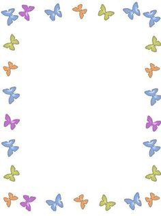 Étiquette cadre papillons.