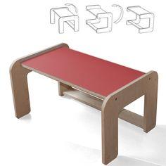 Tisch und Rollcontainer gibt's bei alboproducts schon seit zwei Jahren, seit kurzem komplettiert eine Sitzbank im Lino-Design das Schreibtischset. ...