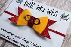 Harry Potter Inspired Felt Bow Headband Harry by LittleBluWho