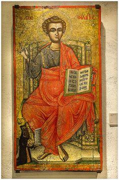 Taken at Omodos village, Cyprus Religious Icons, Religious Art, Greek Icons, Russian Icons, Religious Paintings, Byzantine Icons, Art Icon, Orthodox Icons, Sacred Art
