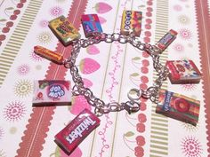 Candy Charm Bracelet Starbursts Blow pop by noalirosedeco on Etsy, $14.00
