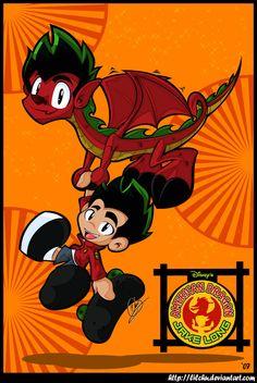Disney Movies, Disney Pixar, Jake Long, American Dragon, Dragon Pictures, Danny Phantom, Old Cartoons, Furry Art, Kawaii