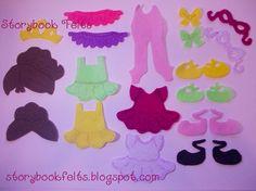 Storybook Felts Felt My Little Ballerina Doll Dress Up Clothing Set 22 PCS Paper Doll Cloths Ballerina Doll, Little Ballerina, Felt Dolls, Paper Dolls, Felt Quiet Books, Felt Crafts, 3rd Birthday, Girl Dolls, Doll Clothes