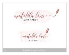 Nail Artist Logo Design - custom cartoon portrait for your business logo / nail technician logo / nail salon logo design Lip Sense, Makeup Artist Logo, Nail Artist, Business Logo, Business Card Design, Business Cards, Schönheitssalon Logo, Spa Logo, Logo Boutique