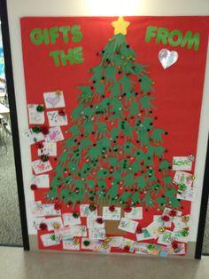 Christmas bulletin board or door decoration
