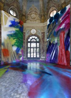 Katharina Grosse - Creating installations which merge painting, sculpture, and architecture.