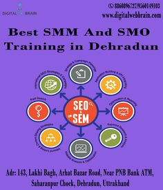 Digital Web Brain offering best In Class, Corporate and Online and Offline Best SMM and SMO Training in Dehradun. One of the best Facebook, Twitter, LinkedIn PPC Advertisement Training in Dehradun. Now you have Opportunity to become SMM and SMO professional. Join our SMM and SMO training courses in Dehradun at best price. Rs: 3000. Click: http://bit.ly/2zqEIWv  #BestSMMAndSMOTraininginDehradun #SMMandSMODehradun #SMOTrainingInDehradun #SMMTraininginDehradun
