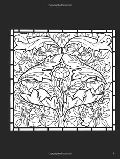 William Morris Stained Glass Coloring Book A G Smith 9780486410425 Books