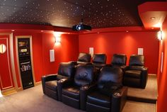 Basement Movie Theater and Gaming Room