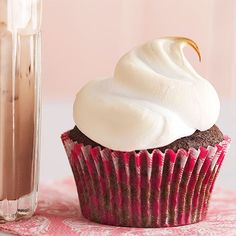 You can never have enough chocolate! These hot cocoa cupcakes are a delicious treat. Plus, they are easy to prepare and ready in mere minutes. Serve the cupcakes as a birthday party treat or a special game-day dessert.