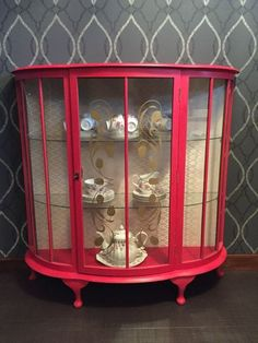 painted display cabinet red - Google Search
