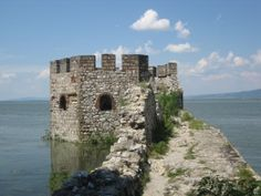 Serbia One of Golubac Castle's towers, partially submerged in the Danube