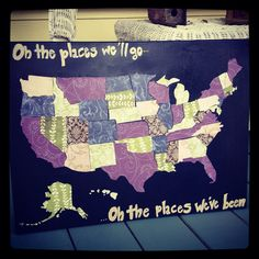 Wedding map gift Push Pin World Map Personalized 20X30 Inches