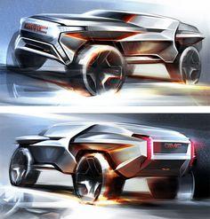 GMC All Terrain Concept Design Renders by Li-Cheng Hsu