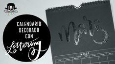 Calendario Decorado Con Lettering Marzo. NUEVA TÉCNICA: Embossing Con Pincel