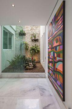 Tropical Garden Design, Small Backyard Design, Japanese Garden Design, Patio Interior, Interior Plants, Interior Design Living Room, Interior Modern, Kitchen Interior, Atrium Garden