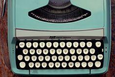 turquoise typewriter love