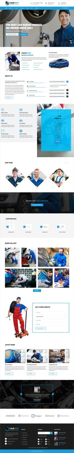 Car hut is a wonderful 3in1 responsive #WordPress theme for #auto mechanic and #car repair workshops website download now➩  https://themeforest.net/item/car-hut-auto-mechanic-car-repair-template/19367245?ref=Datasata