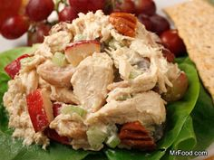 Autumn Chicken Salad | mrfood.com (Would probably leave out mustard)