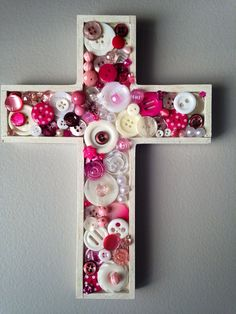 Handmade Mosaic Cross, Communion gift