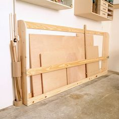 Sheet Stock storage that doesn't take up much space.