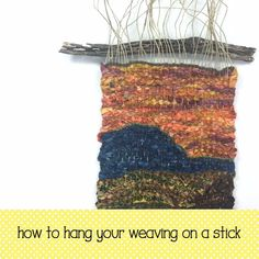 This is from my free series on weaving with fabric strips, I show you how to weave fabric using tapestry techniques. Weaving Wall Hanging, Weaving Art, Weaving Patterns, Loom Weaving, Tapestry Weaving, Hand Weaving, Fabric Weaving, Stitch Patterns, Knitting Patterns