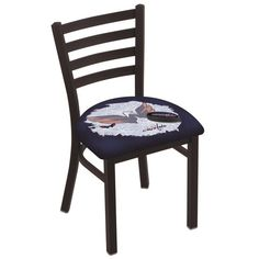 Columbus Blue Jackets NHL Stationary Ladder Back Chair Solid Wood Dining Chairs, Upholstered Dining Chairs, Dining Chair Set, Ladder Back Chairs, Side Chairs, Holland Bar Stool, Buffalo Sabres, Vancouver Canucks, Parsons Chairs