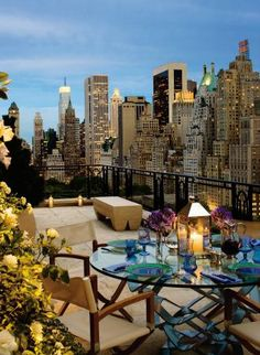 Traditional Outdoor Space by MAC II and Robert A.M. Stern Architects in New York City