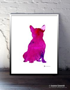 French Bulldog Illustration Colorful Dog Silhouette by Silhouetown