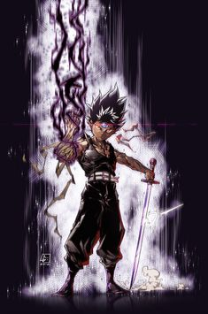 HIEI from Yu Yu Hakusho! I really like all the characters from this anime! And this one is once of those Hope u guys like! HIEI from Yu Yu Hakusho Bleach Anime, Manga Anime, Art Anime, Yu Yu Hakusho Anime, Hero Time, Poses References, Animes Wallpapers, Iphone Wallpapers, Tsundere