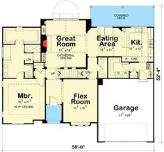 4 Bedroom Craftsman With Cathedral Ceiling - 42296DB | 1st Floor Master Suite, Butler Walk-in Pantry, CAD Available, Craftsman, Den-Office-Library-Study, Northwest, PDF, Photo Gallery, Split Bedrooms | Architectural Designs