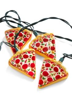 Glowing Out for Pizza String Lights. If your porch, bedroom, or patio needs a slice of excitement, toss up these string lights and try not to drool as you delight in their design! #multi #modcloth