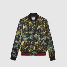 Gucci Tropical print silk jacket