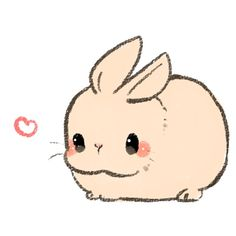 Kawaii Bunny - # Drawing # Rabbit - Drawing Still 2020 Kawaii Bunny, Kawaii Chibi, Kawaii Art, Chibi Bunny, Kawaii Love, Kawaii Things, Kawaii Anime, Kawaii Potato, Kawaii Doodles