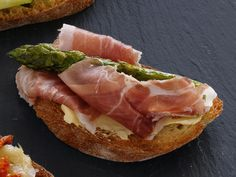 Food Network invites you to try this Asparagus-Prosciutto Bruschetta recipe from Food Network Kitchens.