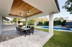 Ferndale Street alfresco by Exactus Homes, Perth Suburbs, Outdoor Decor, Timber, Alfresco Area, Home, Glass Door, New Homes, Renovations, Local Builders