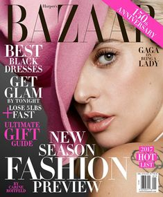 Celebrating its anniversary, Harper's Bazaar enlists pop star Lady Gaga for its December-January cover. Captured by Inez & Vinoodh, the 'Perfect… Popular Magazine, Cool Magazine, Life Magazine, Revista Bazaar, Fashion Magazine Cover, Magazine Covers, Get Glam, Chance The Rapper, Glamour Magazine