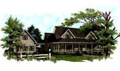 Country Front Elevation Plan #56-222 - Houseplans.com