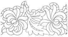 "Képtalálat a következőre: ""Lene Richelieu e Bainha Aberta: riscos richelieu encontrado na net"" Border Embroidery, Cutwork Embroidery, Hand Embroidery Stitches, Vintage Embroidery, Machine Embroidery Designs, Embroidery Patterns, Tambour Beading, Flower Coloring Pages, Mandala Coloring"
