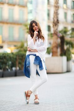 Awesome colorful office outfit ideas for office closet? Cute Outfits With Jeans, Cute Outfits For Kids, Cute Summer Outfits, Fall Outfits, Fashion Outfits, White Outfits, Spring Fashion Casual, Colorful Fashion, Love Fashion