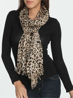 Perfect Leopard Scarf from ArdenB.com
