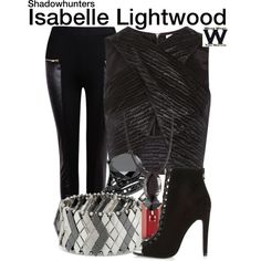 Inspired by Emeraude Toubia as Isabelle Lightwood on Shadowhunters. Tv Show Outfits, Fandom Outfits, Girl Outfits, Themed Outfits, Inspired Outfits, Shadowhunters Outfit, Fashion Pants, Fashion Outfits, Fashion Story