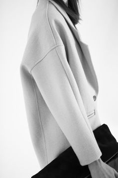 Oversized wool coat with dropped shoulders; chic minimal fashion // Mishka FW14
