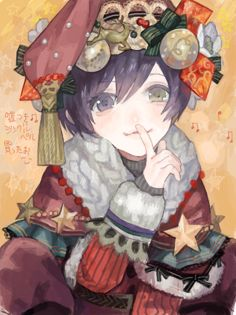 日本插畫師,風格華麗細膩多變, 同時也是《東京食屍鬼》ED的作畫畫師~ 宇治山 喜撰