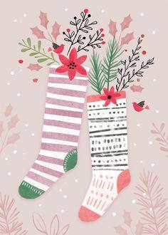 Leading Illustration & Publishing Agency based in London, New York & Marbella. Christmas Mood, Pink Christmas, Christmas Images, Christmas Design, Christmas Themes, Vintage Christmas, Christmas Crafts, Illustration Noel, Christmas Illustration