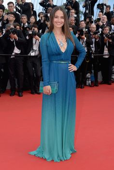 Marie Gillain wears ELIE SAAB Ready-to-Wear Spring Summer 2015 to the opening ceremony of the 68th international Cannes film festival and premiere of 'La tête haute'.